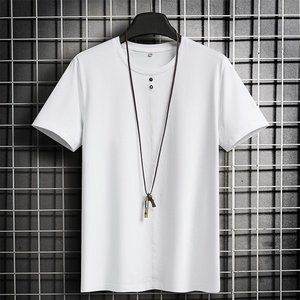 New men's trendy short-sleeved t-shirt E